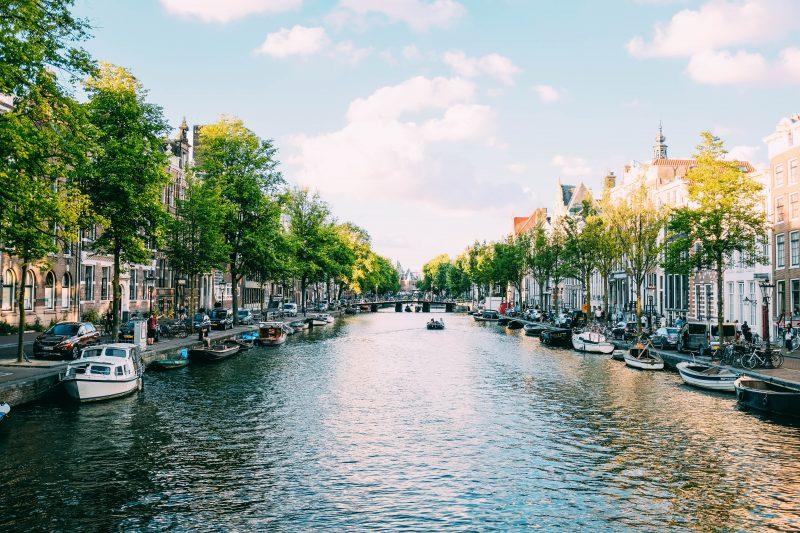 Amsterdam - voorbeeldfoto van de grachten