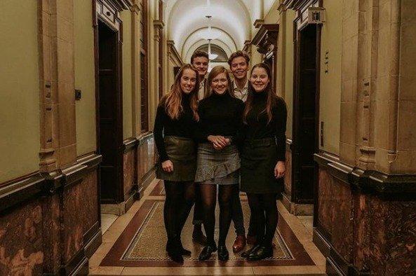 Dit is het team Utrecht voor de Veritas Fora in Utrecht